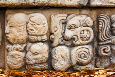 HN002RF Honduras, Copan Ruinas, Copan Ruins, East Court, Patio de Los Jaguares