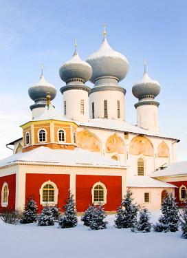 RUS1275AW Uspensky Cathedral, Bogorodichno-Uspenskij Monastery, Tikhvin, Leningrad region, Russia