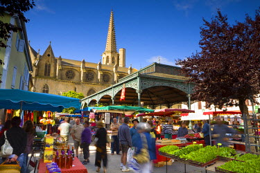 FR06258 Market Day, Mirepoix, Ariege, Pyrenees, France