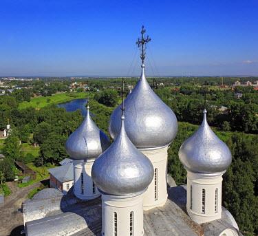 RU04238 Domes of St. Sophia cathedral (16 century), Vologda, Vologda region, Russia