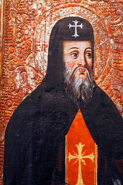 UA02054 St. Antony and Feodosy (18 century), Volyn icon, museum, Lutsk, Volyn oblast, Ukraine