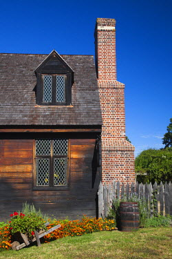 US29080 USA, Maryland, Western Shore of Chesapeake Bay, St. Mary's City, early 17th century house