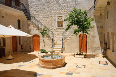 SY01150 Syria, Aleppo, The Old Town (UNESCO Site), Former Damascene House now converted to a Luxury Hotel