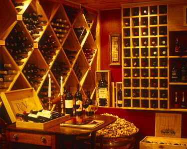SAF2655 South Africa, Western Cape, Plettenberg Bay.  The wine tasting room at The Plettenberg Hotel Beach.