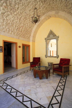 SY01151 Syria, Aleppo, The Old Town (UNESCO Site), Former Damascene House now converted to a Luxury Hotel