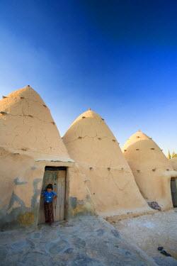 SY01216 Syria, Hama surroundings, the Beehive Village of Sarouj, made of mud dwellings