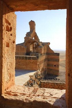 SY01209 Syria, Hama surroundings, 6th Century Byzantine Sandstone Palace of Qasr ibn Wardan, Church