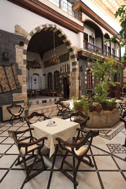 SY01300 Syria, Damascus, Old, Town, Traditional Damascene House converted into luxury hotel