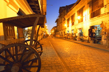 PHI1135AW Crisologo Street at dusk, Vigan, Luzon, Philippines