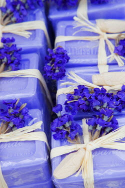 FRA6609AW Provence, France. Lavender soap in Provence France