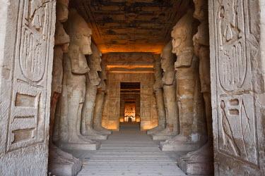 EG02681 Egypt, Abu Simbel, Statues and Temple of Ramses II, main chamber