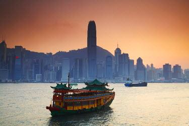 CH9252AW View of Hong Kong Island skyline across Victoria Harbour, Hong Kong, China
