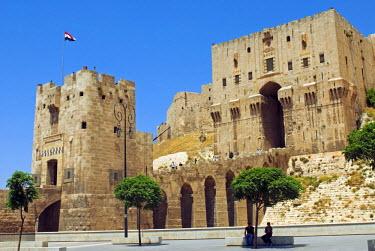 SY1309 Syria, Aleppo. Entrance to the Citadel.