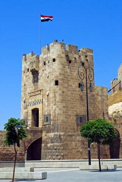 SY1310 Syria, Aleppo. Entrance to the Citadel.