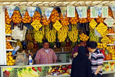 SY1312 Syria, Aleppo. Fresh fruit Stall.