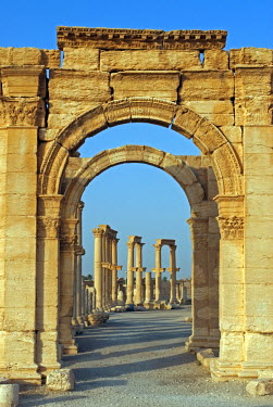 SY1315 Syria, Palmyra. Archway off the cardo maximus.