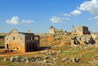SY1320 Syria, between Aleppo and Hama. Roman tavern in the dead city of Serjilla.