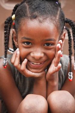 CV01082 Cape Verde, Santo Antao, Ponta do Sol, local children