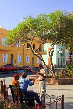 CV01088 Cape Verde, Sao Vicente, Mindelo, Plaza Amilcar Cabral