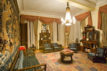 TK01267 Ataturk's Sitting Room, preserved as a museum at the Pera Palas Hotel, Istanbul, Turkey. (PR)