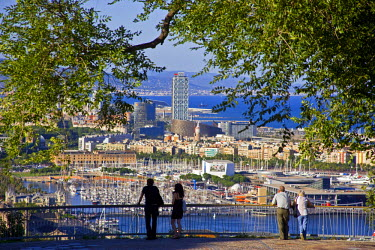 SPA3338 View of Barcelona from Montjuic, Catalonia, Spain