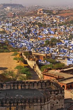 AS10_AJE0323 Jodhpur or the Blue City viewed from Mehrangarh Fort, Jodhpur, India.