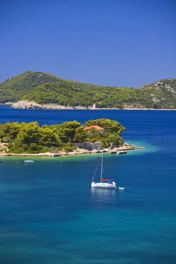 EU32_SWS0086 Views around Kolocep Island, Boat tour of Elaphite Islands from  Dubrovnik, Southeastern Tip of Croatia, Dalmation Coast, Adriatic Sea, Croatia
