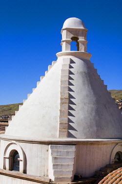 SA03_PLA0738 Bolivia, Potosi. Cupola atop the roof of the  Casa Nacional de Moneda (National Mint)