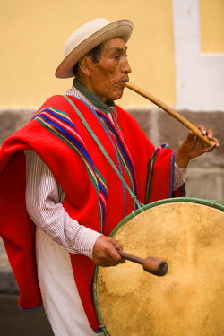 SA07_JME0065 Ecuador, Pinchincha Province, Quito. Procession during Holy Week (Semana Santa) on the Tuesday before Easter called Entrada de los Jocheros