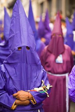SA07_JME0934 Ecuador, Pinchincha Province, Quito. Procession during Holy Week (Semana Santa) on Good Friday.