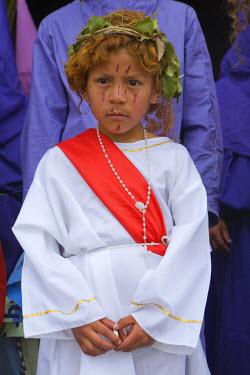 SA07_JME0981 Ecuador, Pinchincha Province, Quito. Procession during Holy Week (Semana Santa) on Good Friday.
