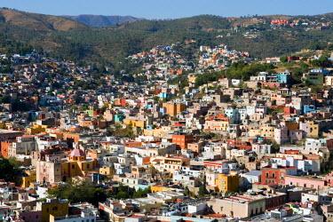 SA13_LNO0177 Mexico, Guanajuato. Cityscape of Guanajuato, a UNESCO World Heritage site
