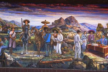 SA13_PLA0082 Mexico, Anenecuilco. El Caudillo del Sur (The Southern Caudillo), mural by Roberto Rodriguez Navarro, Casa-Museo Emiliano Zapata Museum