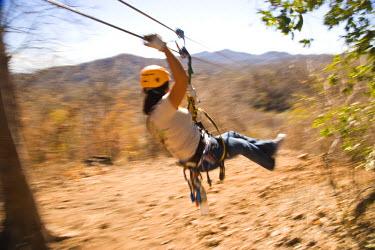 SA13_SWS0521 Huana Coa Canopy Adventure, staff and participants, near La Noria, near Mazatlan, Sinaloa State, Mexico (MR)