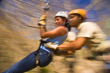 SA13_SWS0527 Huana Coa Canopy Adventure, staff and participants, near La Noria, near Mazatlan, Sinaloa State, Mexico (MR)