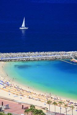 ES09110 Canary Islands, Gran Canaria, Puerto Rico, Playa de Los Amadores
