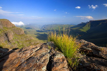 LES1168 Lesotho, Sani Pass. The border with South Africa in the Drakensberg Mountain range. Stunning views from the top of the Pass.
