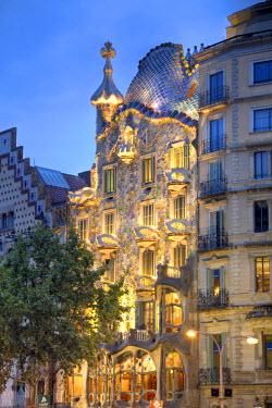 ES02244 Casa Batllo (by Gaudi), Passeig de Gracia, Barcelona, Spain