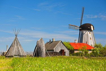 ET02036 Estonia, Western Estonia Islands, Saaremaa Island, Angla, Saaremaa Windmill Museum