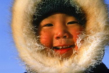 AR1891413004 Portrait of Inuit boy, Nunavut, Canada