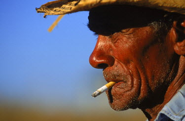 AR1010033007 Portrait of worker at La Paloma Cattle Farm, Escambrey Mountains, Cuba.