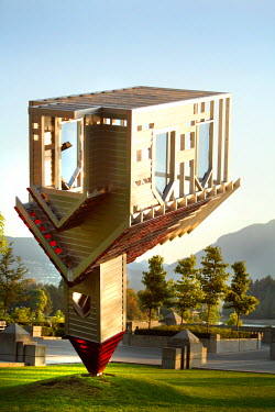 AR9298300016 An inverted church sculpture defies gravity in Vancouver, British Columbia, Canada