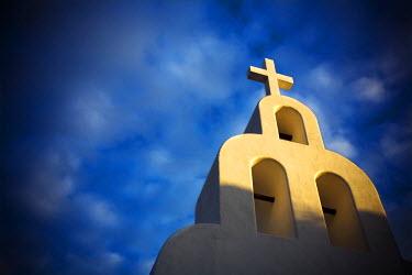 AR9708200050 View of a church in Playa del Carmen, Mexico.