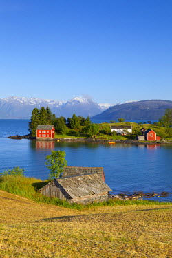 NW03118 An idyllic rural island in the Hardanger Fjord, Hordaland, Norway