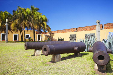MOZ1505AW Cannons in Maputo Fort, Maputo, Mozambique