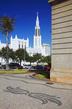 MOZ1514AW City Hall and Cathedral of Nossa Senhora de Conceicao, Maputo, Mozambique