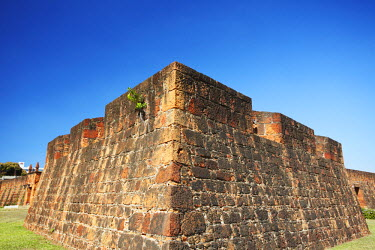 MOZ1508AW Walls of Maputo Fort, Maputo, Mozambique