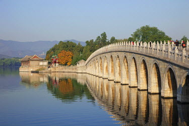 TPX20217 China, Beijing, The Summer Palace, Seventeen Arched Bridge