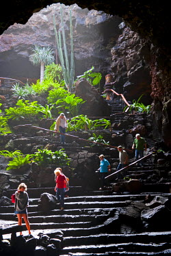 SPA3443 Jameos del Agua, architecture and nature by the artist Cesar Manrique. Lanzarote Island. Belongs to the Canary Islands and its formation is due to recent volcanic activities.
