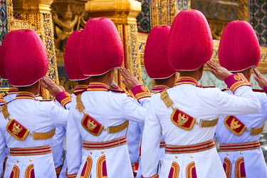 TH01222 Palace Guard, Wat Phra Kaeo, Grand Palace, Bangkok, Thailand